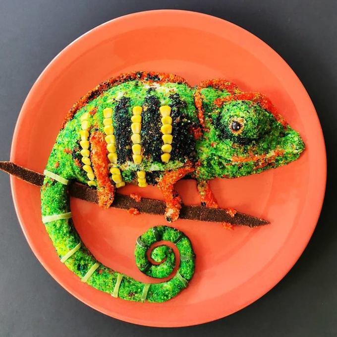 Nghệ thuật tạo hình đĩa thức ăn hình con vật11