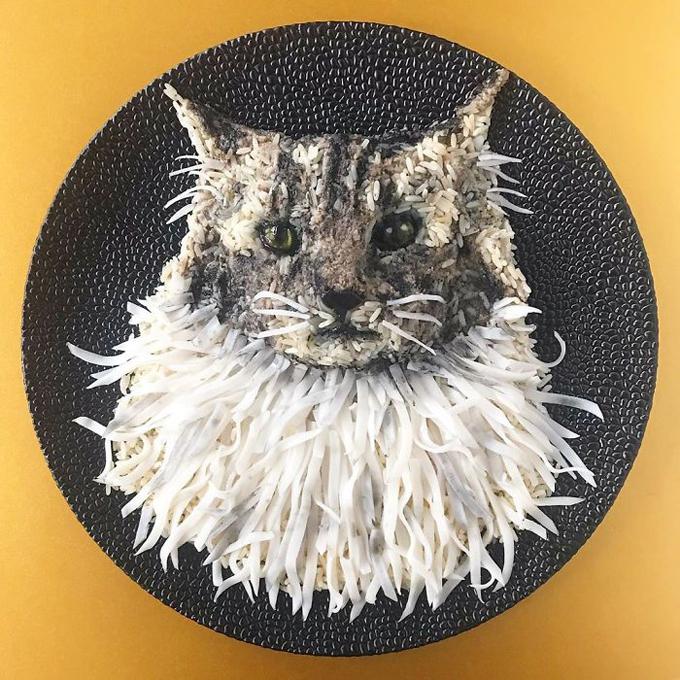 Nghệ thuật tạo hình đĩa thức ăn hình con vật3