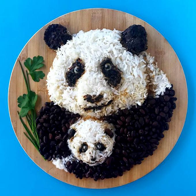 Nghệ thuật tạo hình đĩa thức ăn hình con vật5