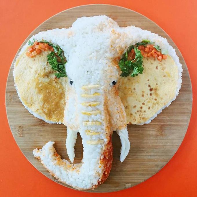 Nghệ thuật tạo hình đĩa thức ăn hình con vật6