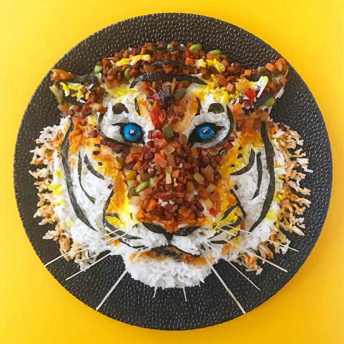 Nghệ thuật tạo hình đĩa thức ăn hình con vật8