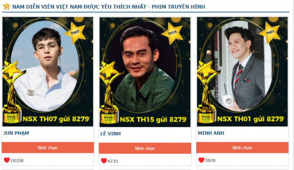 Top 3 Nam truyền hình