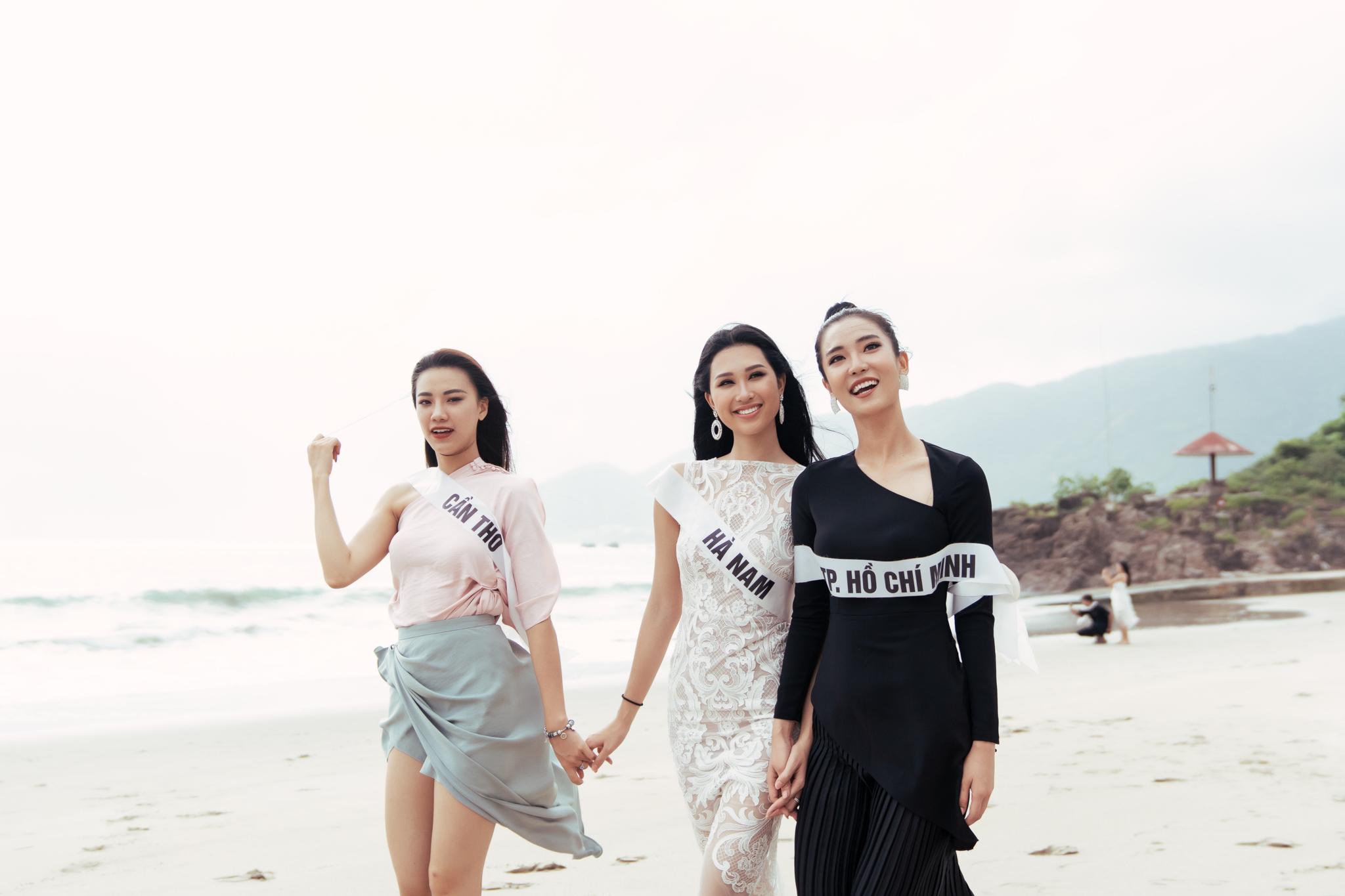 Top 45 thí sinh HHHV Việt Nam 2019 hóa nàng thơ tại bãi biển Nhũ Tiên2