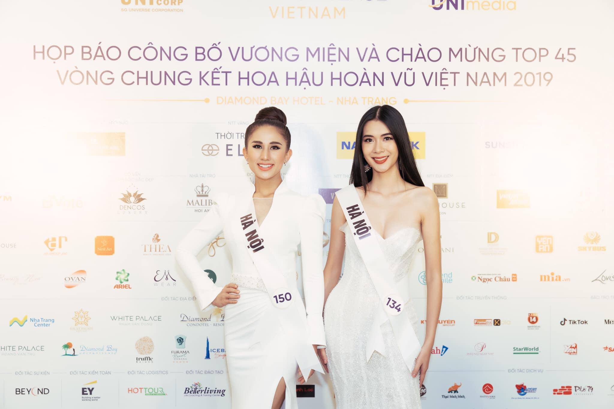 Hai thí sinh 150: Nguyễn DIANA và thí sinh 134: Lương Ý Như