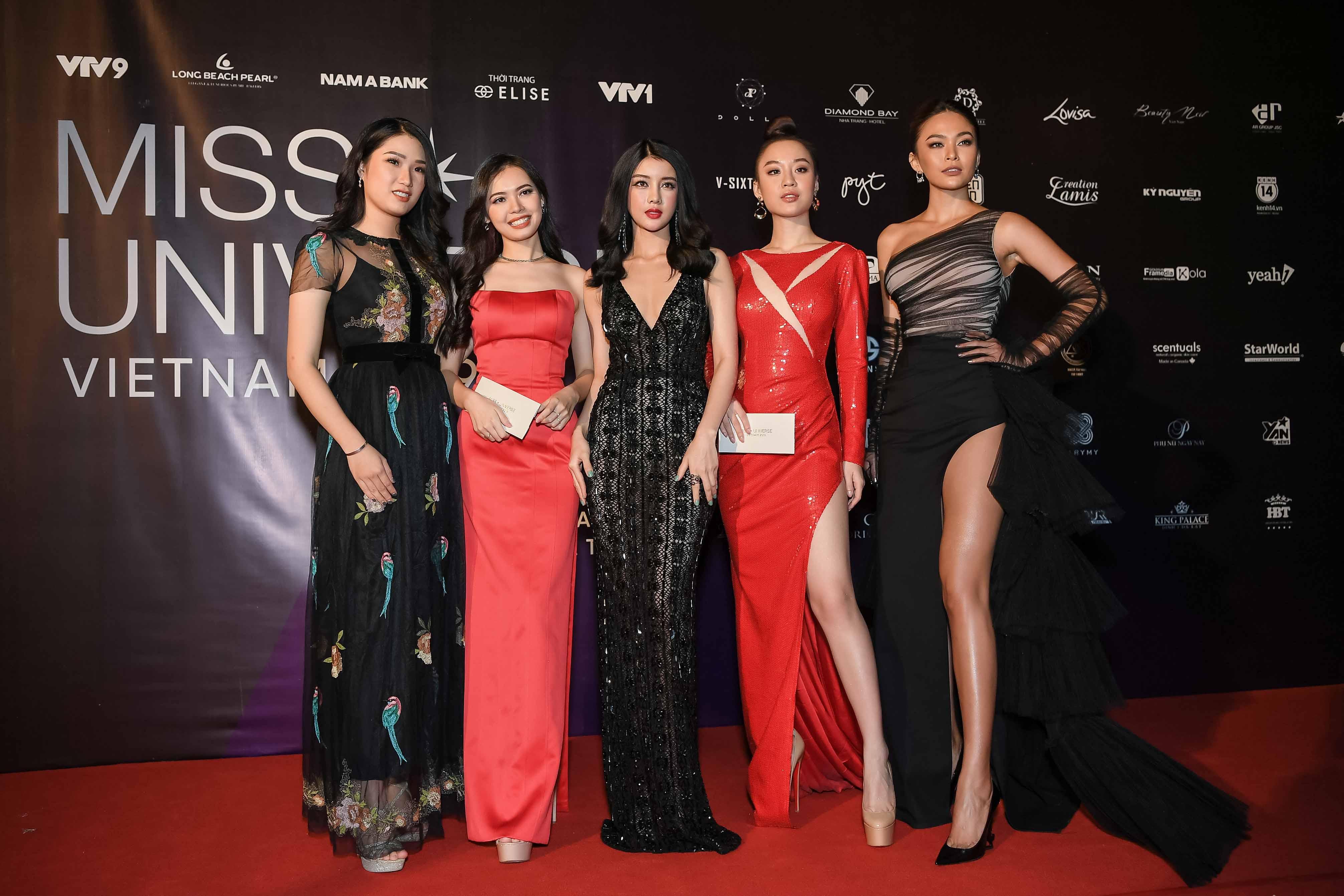 Các người đẹp Hoa hậu Hoàn vũ Việt Nam 2017