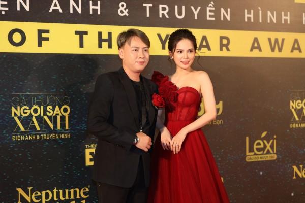 Diễn viên Phi Huyền Trang rạng rỡ tại Lễ trao giải Ngôi sao xanh 2019