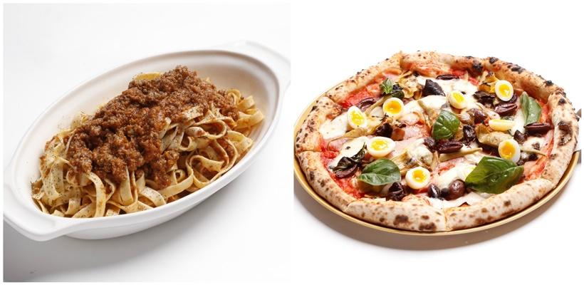 Tagliatelle & Pizza Capricciosa