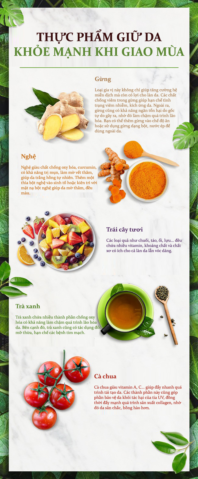 10.5 loại thực phẩm giúp da khỏe đẹp