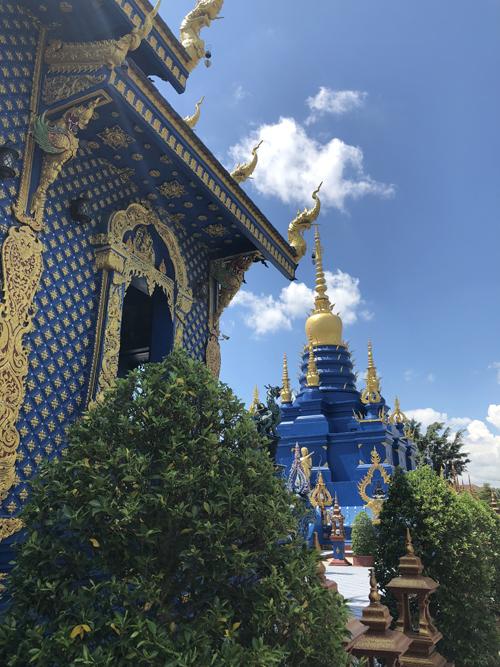 12.Ngôi chùa 'hổ nhảy' nhuộm màu xanh ở Thái Lan2