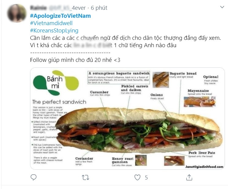17. Giới trẻ Việt đồng lòng lên tiếng trước việc các du khách Hàn chê bai bánh mì Việt10