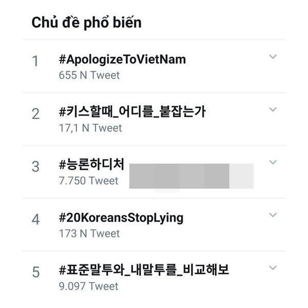 Hashtag #ApolozieToVietNam  đạt Top 1 từ khóa tìm kiếm