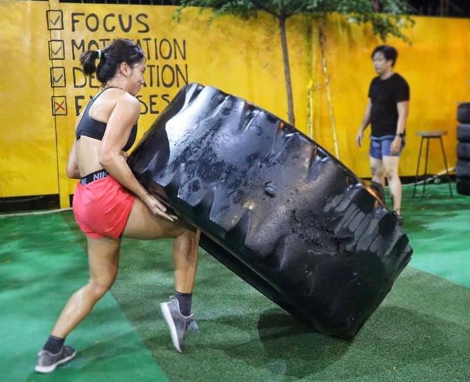 Thiên Kim có khoảng thời gian dài tập luyện với cường độ cao.