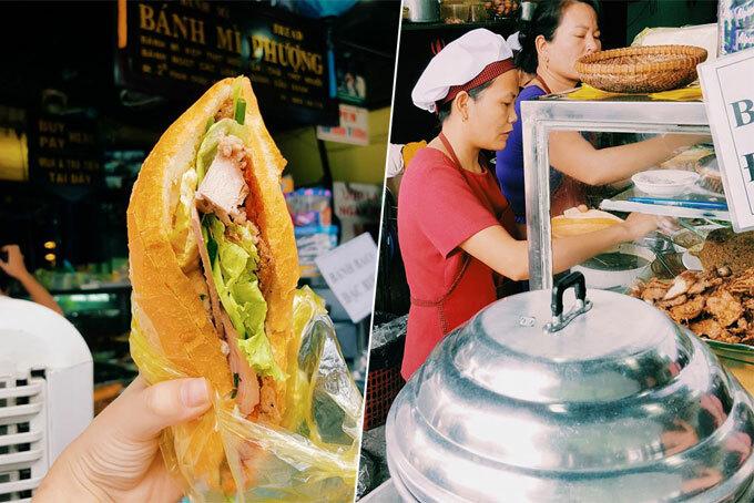 Tiệm bánh mì Phượng được nhiều du khách nước ngoài biết tới. Ảnh: Nguyên Chi