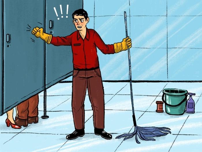 Tại sao cánh cửa nhà vệ sinh công cộng không thiết kế kín2