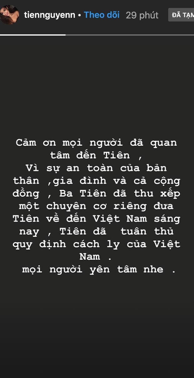 Em chồng Hà Tăng xác nhận về Việt Nam bằng máy bay riêng