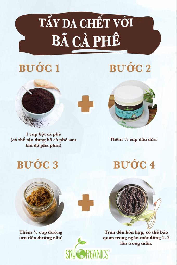 4.Tẩy da chết toàn thân với bã cà phê