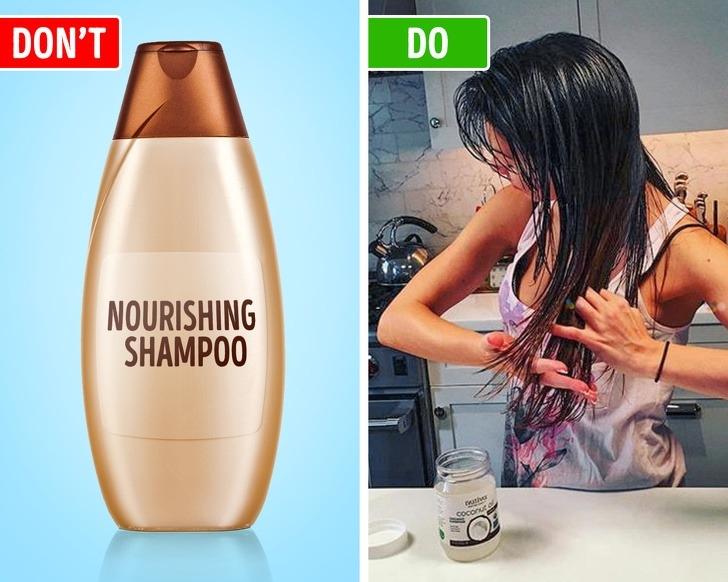 Chọn sai sản phẩm chăm sóc tóc cũng làm tình trạng bết dầu trở nên trầm trọng hơn. Các chuyên gia khuyên bạn nên tránh sử dụng sản phẩm được thiết kế cho tóc hư tổn hoặc tóc khô vì chúng sẽ bao phủ tóc bởi một lớp bảo vệ mỏng, điều đó cũng khiến mái tóc trông bóng nhờn hơn, nhất là khi tóc của bạn mỏng hoặc vốn có da dầu.