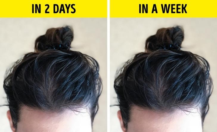 Gội đầu quá thường xuyên sẽ làm mất cân bằng độ pH của da đầu, khiến tuyến bã nhờn phải làm việc nhiều hơn. Gội đầu 2 - 3 lần mỗi tuần được cho là tần suất phù hợp.