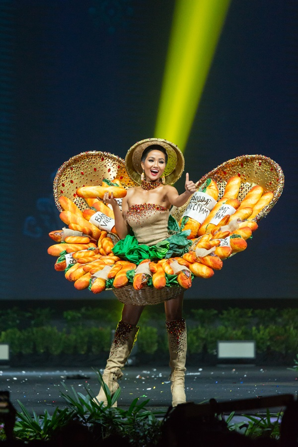 H'Hen Nie, Miss Vietnam 2018 on stage during the National Costume Show, an international tradition where contestants display an authentic costume of choice that best represents the culture of their home country, on December 10th at Nongnooch Pattaya International Convention Exhibition (NICE). The Miss Universe contestants are touring, filming, rehearsing and preparing to compete for the Miss Universe crown in Bangkok, Thailand. Tune in to the FOX telecast at 7:00 PM ET live/PT tape-delayed on Sunday, December 16, 2018 from the IMPACT Arena in Bangkok, Thailand to see who will become the next Miss Universe. HO/The Miss Universe Organization