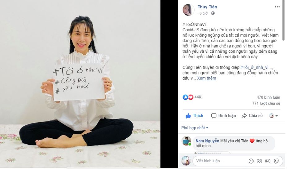Sao Việt đồng lòng kêu gọi mọi người ở nhà để đẩy lùi dịch COVID1