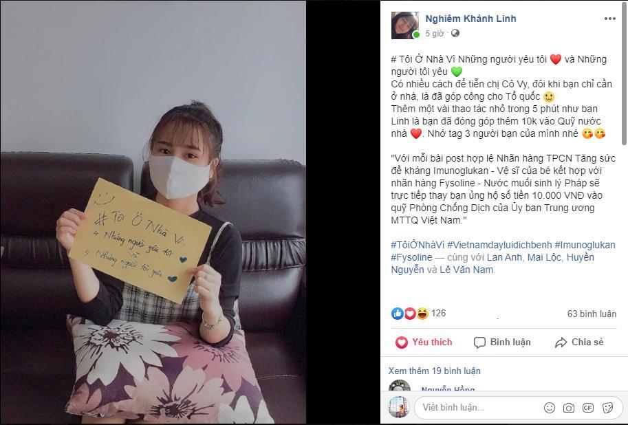 Sao Việt đồng lòng kêu gọi mọi người ở nhà để đẩy lùi dịch COVID5