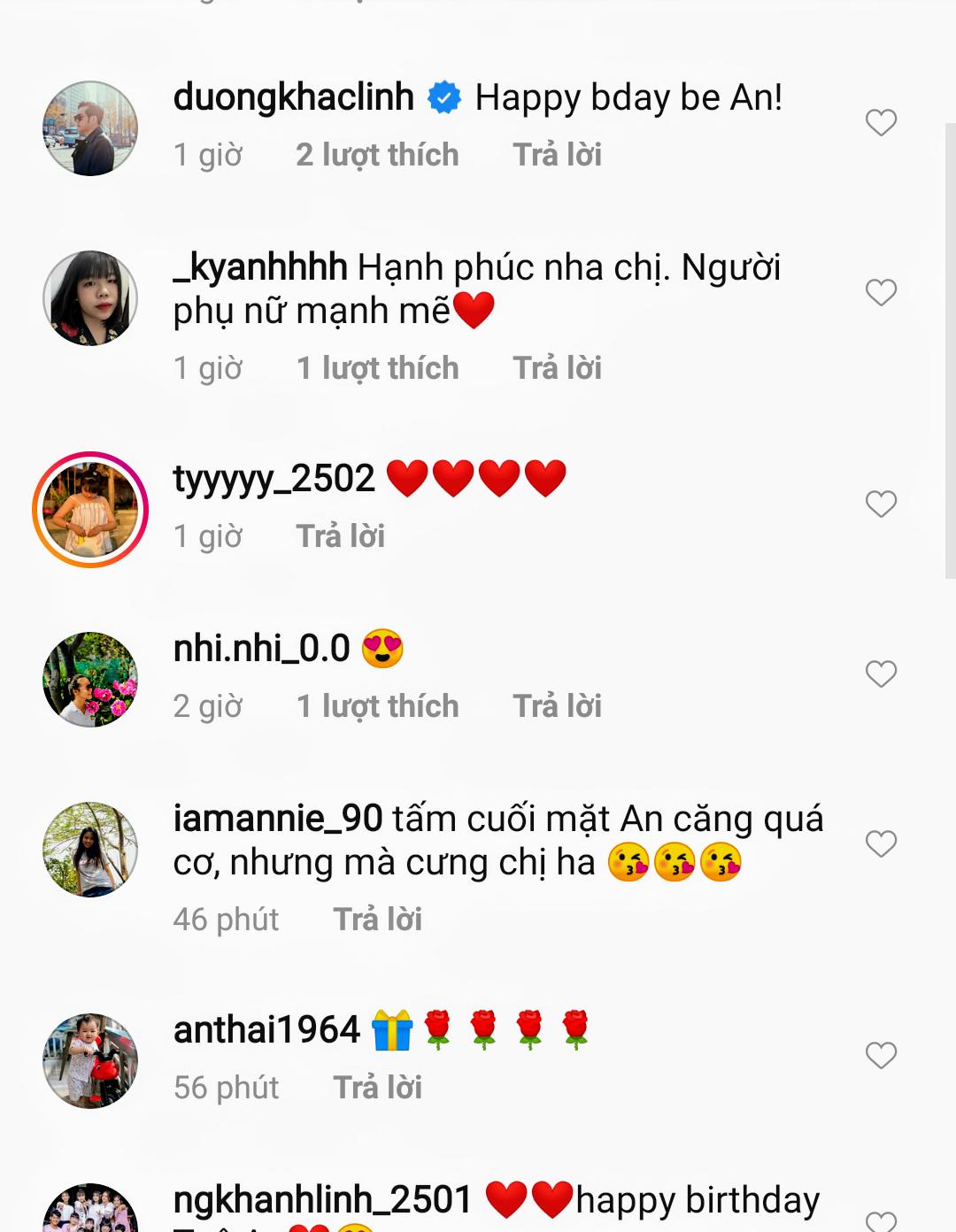Nhiều khán giả và sao Việt gửi lời chúc mừng sinh nhật con gái Phạm Quỳnh Anh