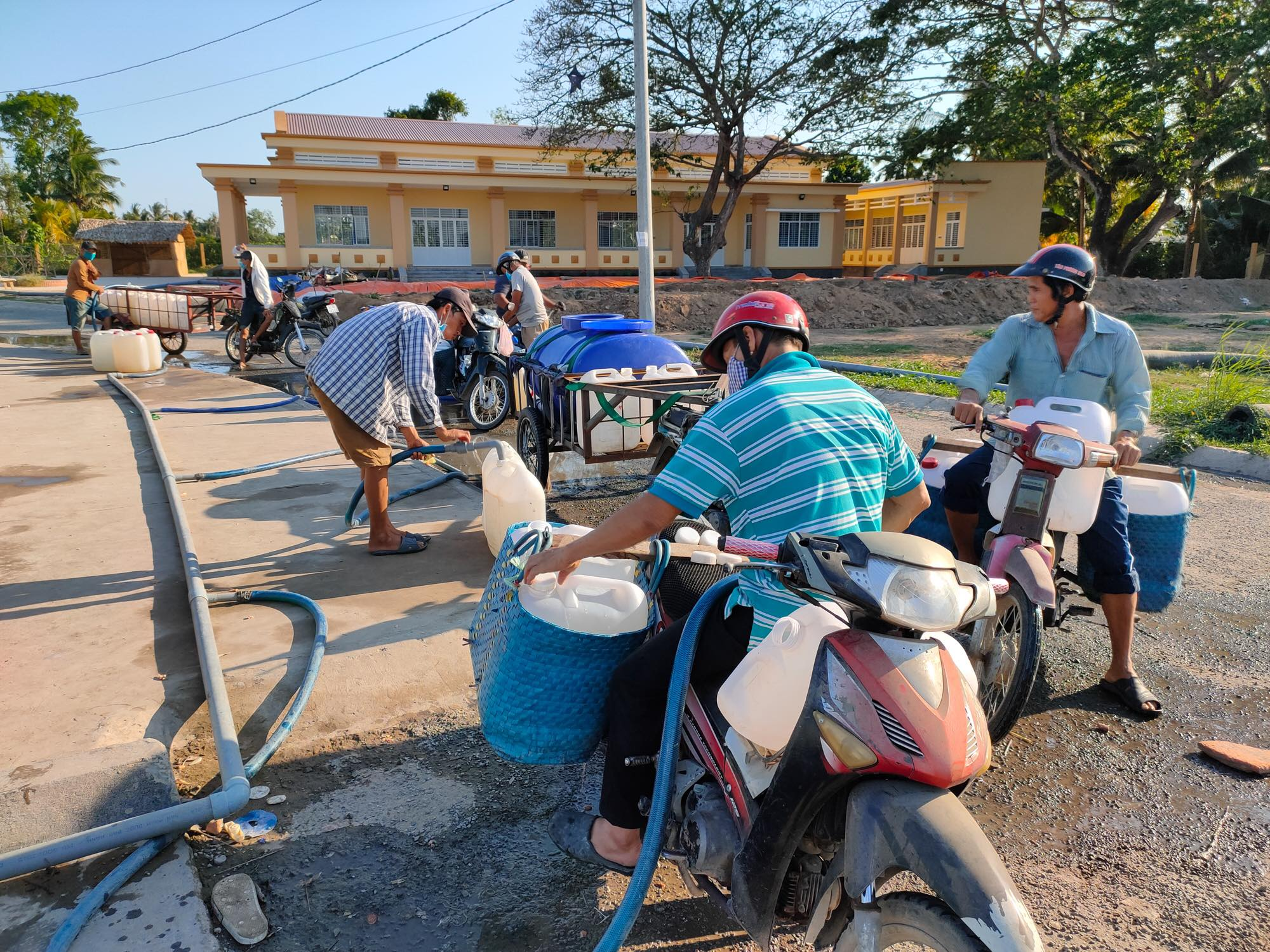 Tiền Giang là một trong những tỉnh chịu ảnh hưởng khá nặng nề của hạn mặn