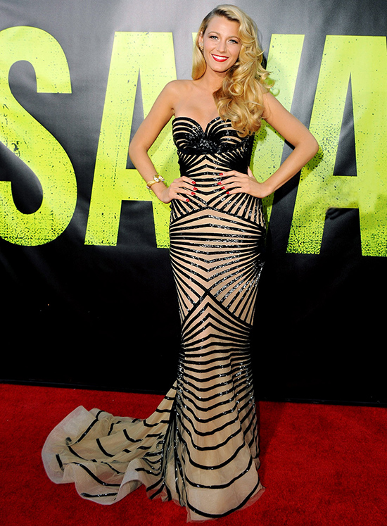 "WESTWOOD, CA - JUNE 25:  Actress Blake Lively arrives at the Los Angeles Premiere ""Savages"" at Mann Village Theatre on June 25, 2012 in Westwood, California.  (Photo by Jon Kopaloff/FilmMagic)"