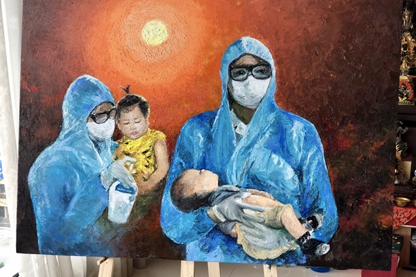 Hoa hau Khanh Van va Ba ve tranh Nhung Trai Tim Dung Cam3