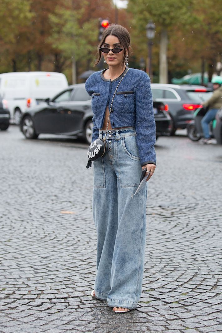 Street Style, Spring Summer 2020, Paris Fashion Week, France - 01 Oct 2019