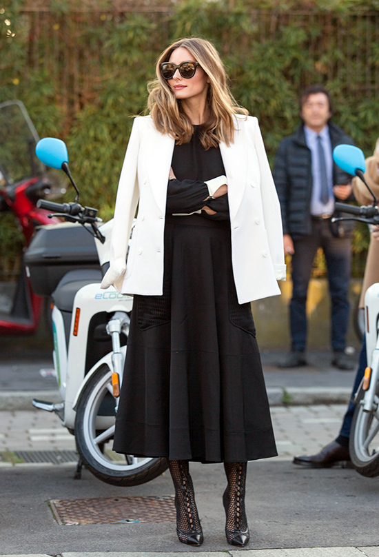 Mandatory Credit: Photo by Cornel Cristian Petrus/Shutterstock (10562062aw) Olivia Palermo Street style, Fall Winter 2020, Milan Fashion Week, Italy - 19 Feb 2020