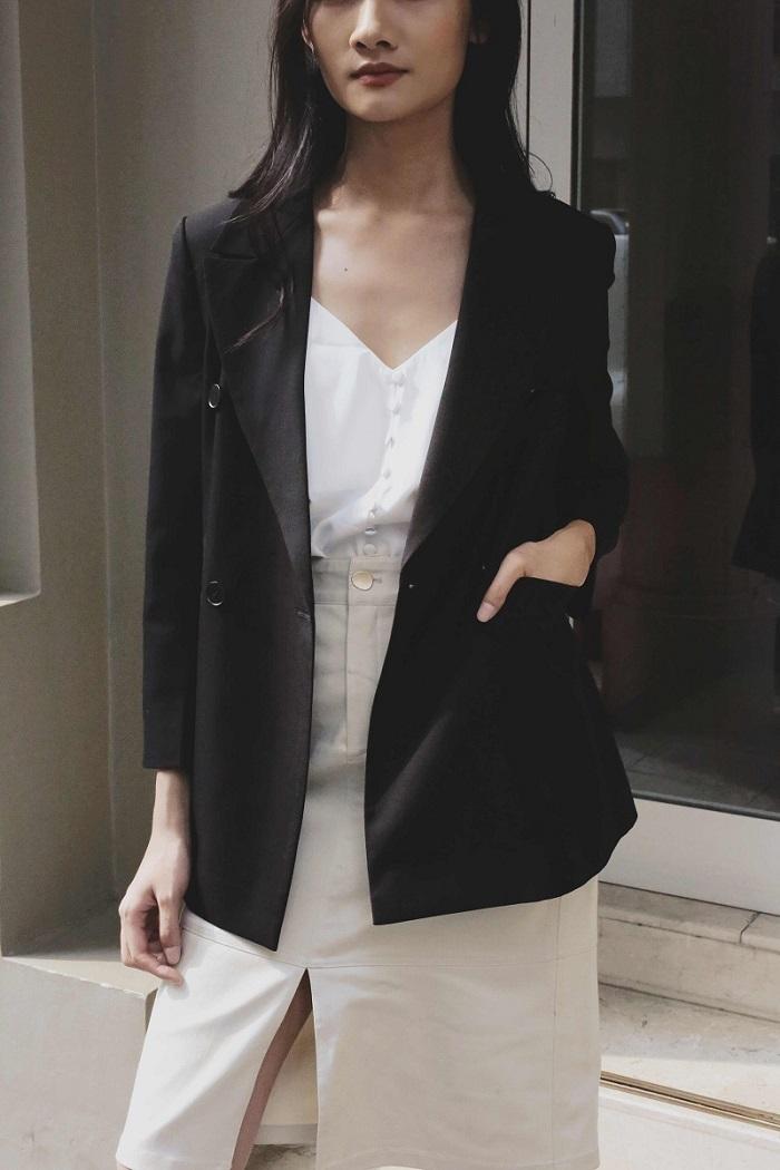 Áo blazer nữ oversized twill