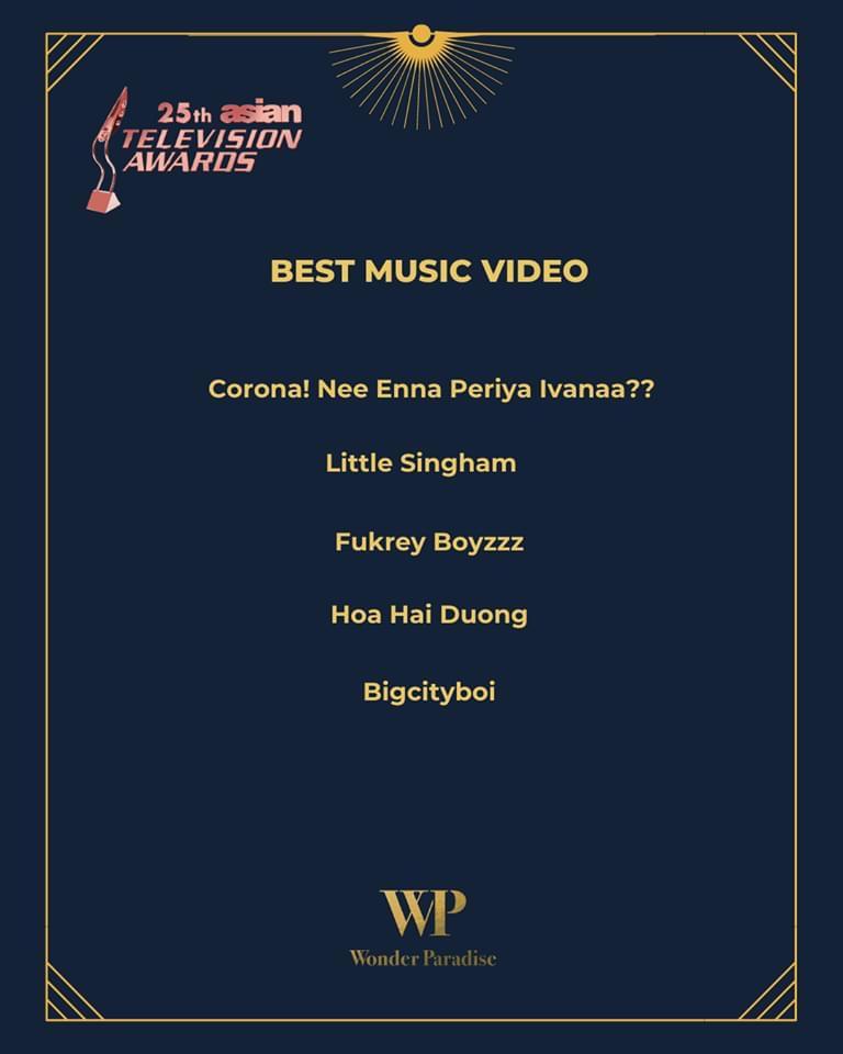 Danh sách đề cử MV