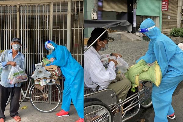 Khánh Vân tận tay trao quà cho bà con nghèo, vô gia cư